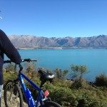 The view from the bottom of Lake Ohau